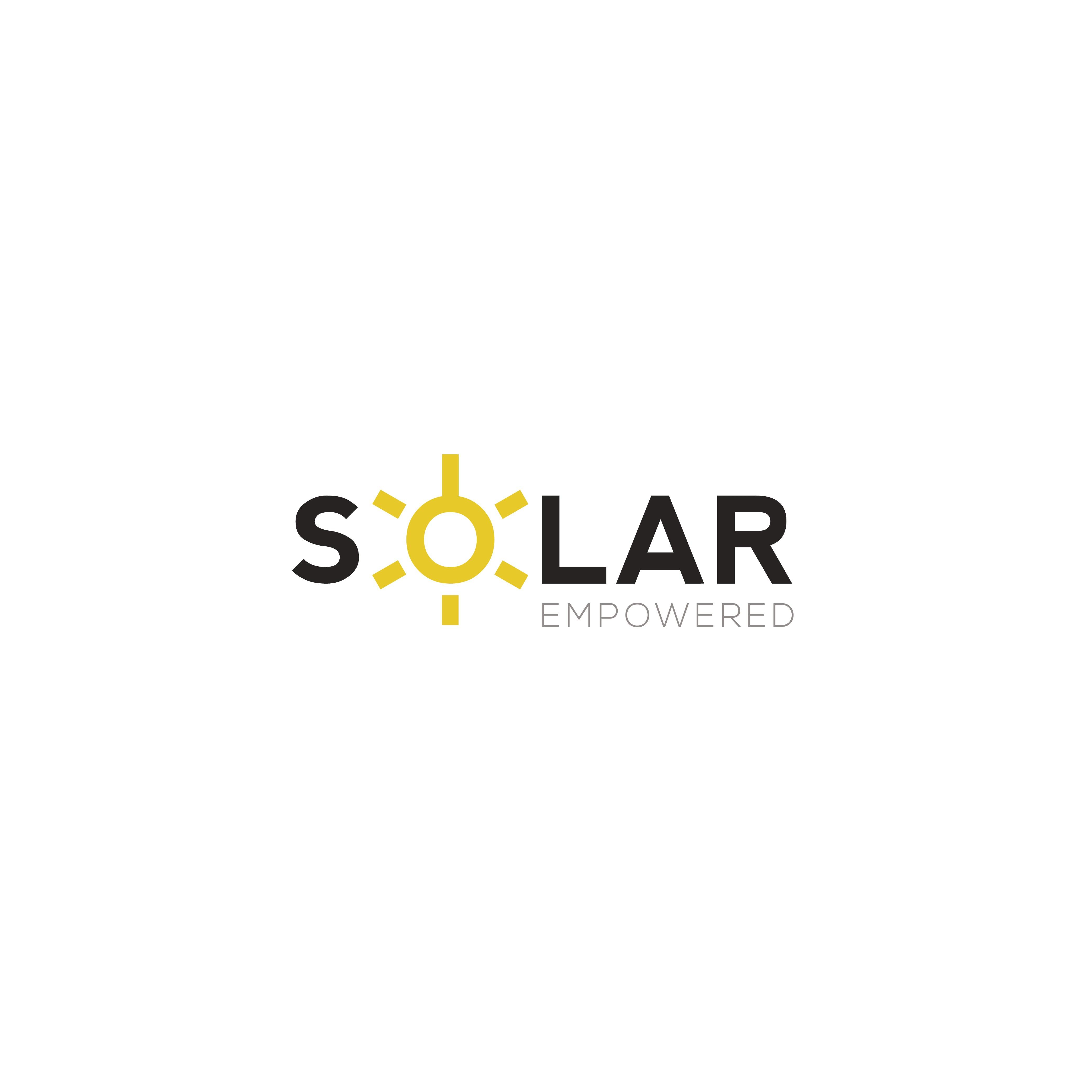 Simple logo design for a Solar Energy Company