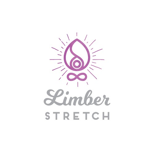 Vibrant, indie, refined logo for luxury yoga brand