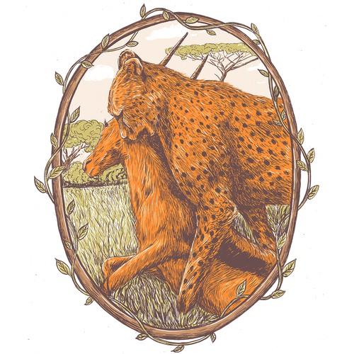 Artistic Illustration for Hunting Brand