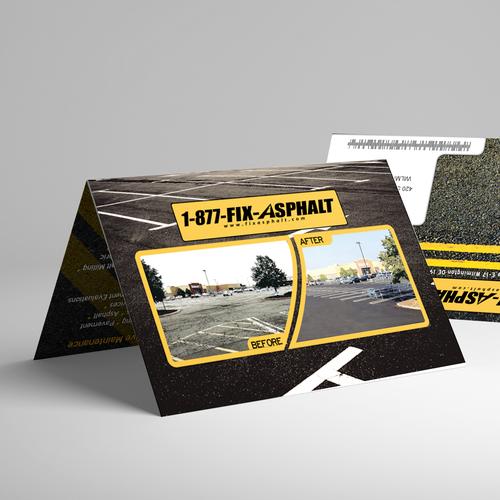Folding mail flyer