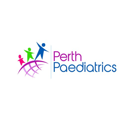 Create a child targeted logo for a specialist paediatric medical practice