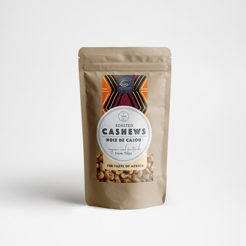Label design for cashews from togo