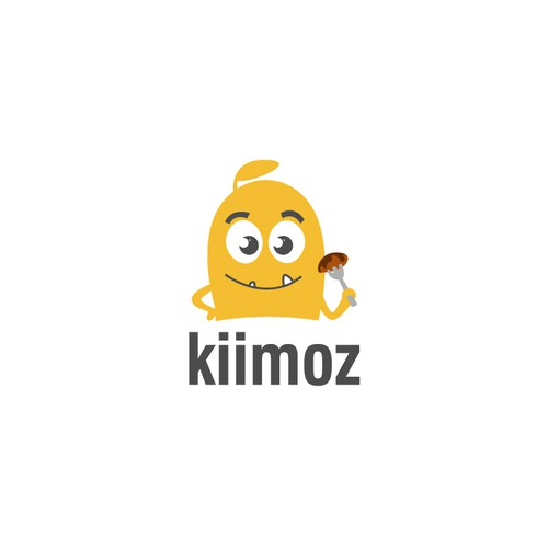 Logo for kiimoz food review app