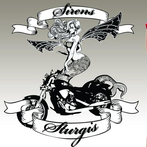 Sexy Siren Motorcycle V Neck