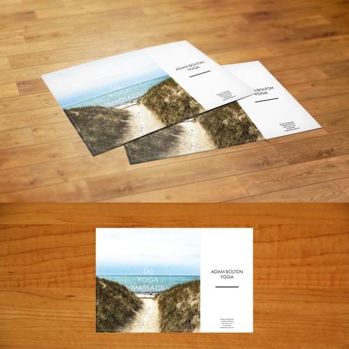 Hipster minimalist nature inspired Thai Yoga Massage postcard
