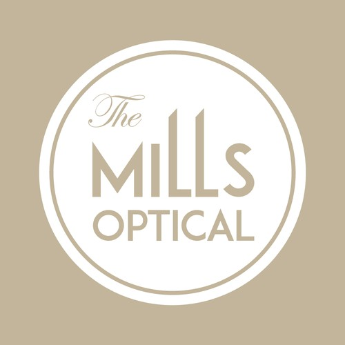 Logo for 'The Mills Optical'