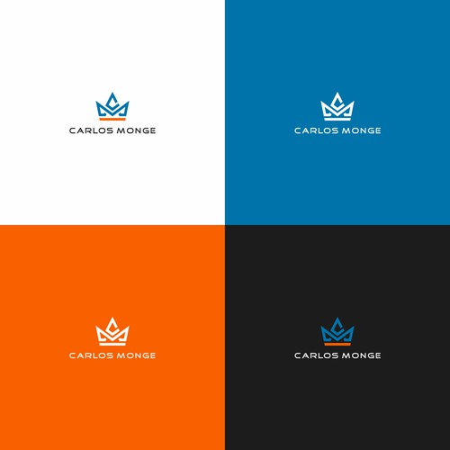 simple logo for carlos monge (business & consulting)