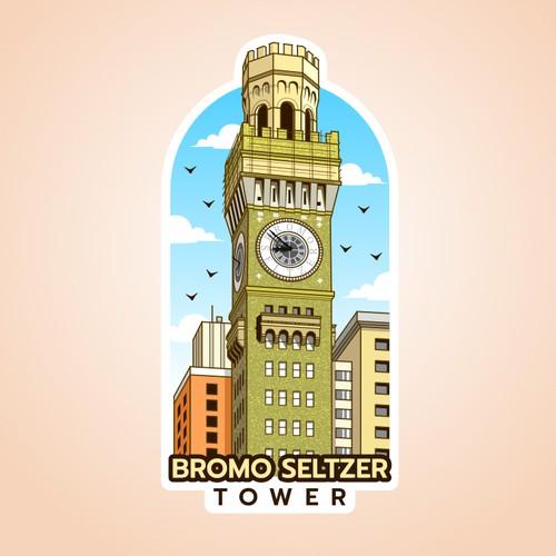 Bromo Seltzer Tower Sticker