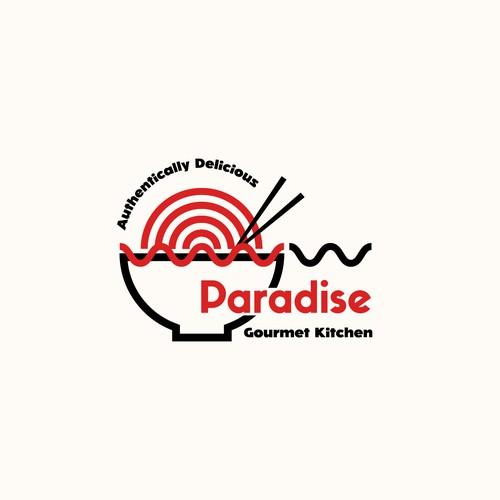 Geometric Logo for Asian Food Business