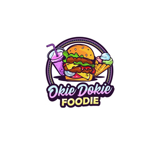 Bold logo for a food photographer - Okie Dokie Foodie