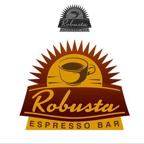 ROBUSTA ESPRESSO BAR  needs a new logo