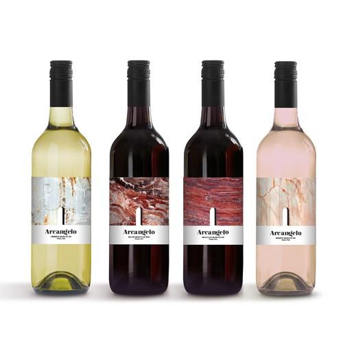 "Italian wine ""Arcangelo"" label design"