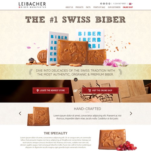 Leibacher; Homepage Design