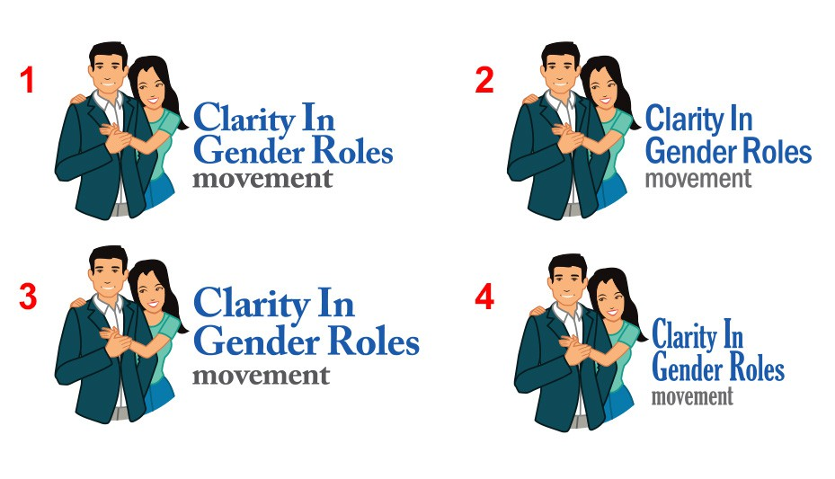 website on Gender Roles needs Caricature/ Logo which resembles a couple (man/woman)