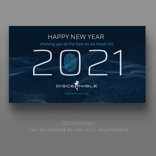 Professional new year's e-card for Discernible Inc