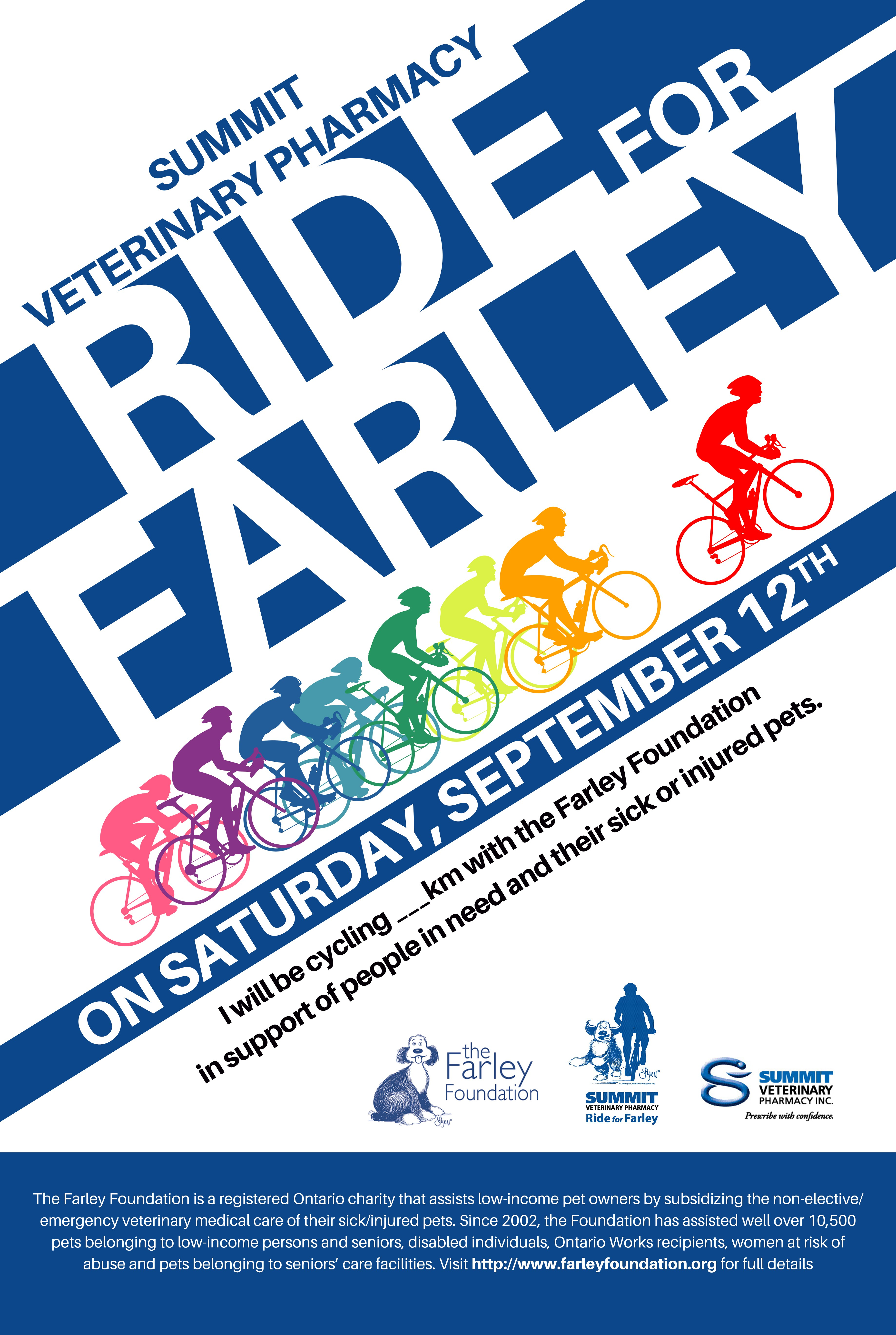 Bike Ride Poster for Canadian Animal Charity
