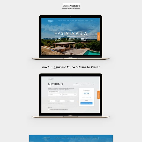 Real estate one page website