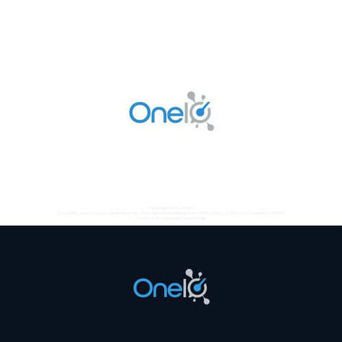 Clean and tech logo concept for OneIO