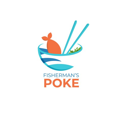 Minimal and Bright Logo for Poke