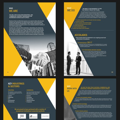 Commercial Real Estate Company Brochure (Profile) complete rework