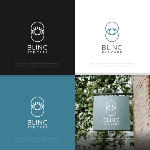 Blinc Eye Care eye-catching logo/branding