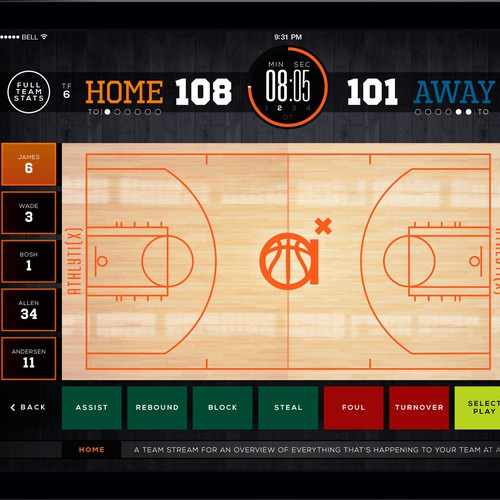 Basketball Analytics App Design