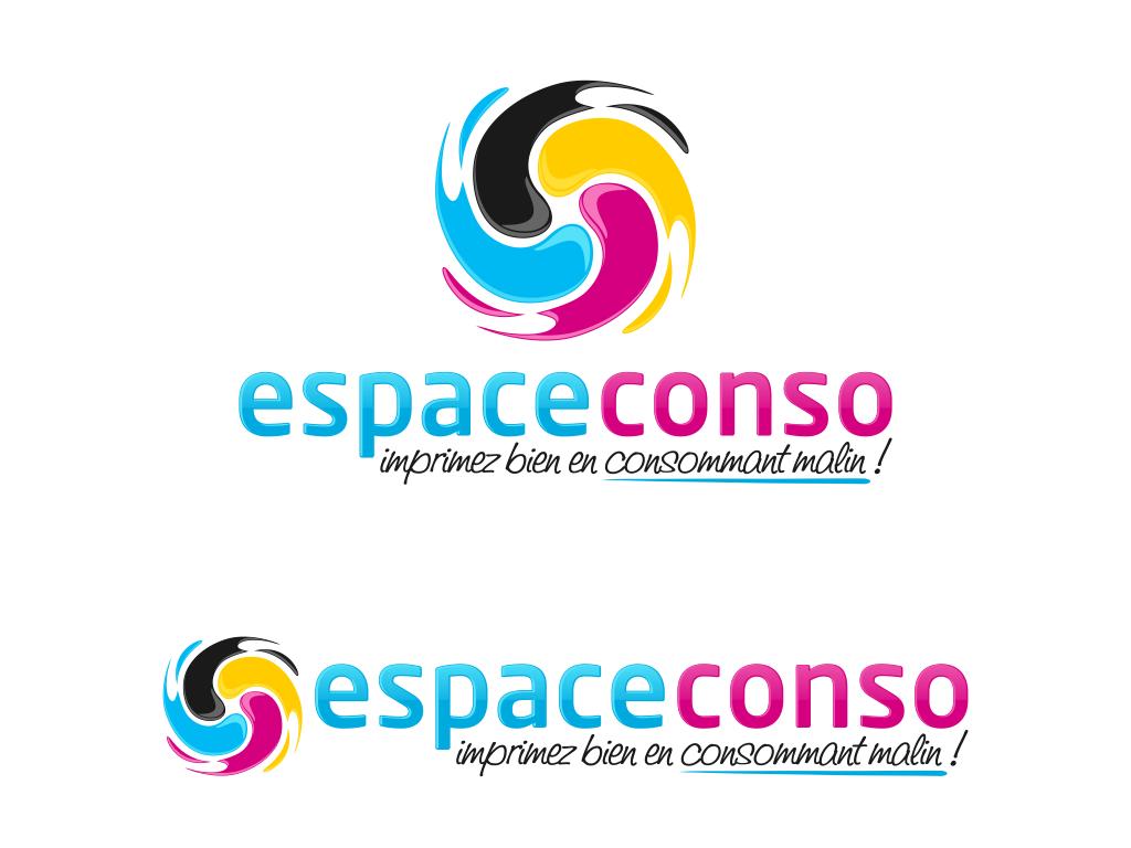 Nouveau logo moderne et coloré pour Espace conso