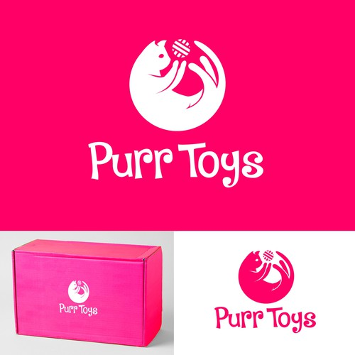 Fun and simplistic design for a cat toy business