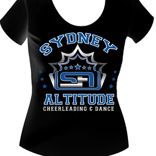 Help Sydney Altitude Cheerleading & Dance with a new t-shirt design