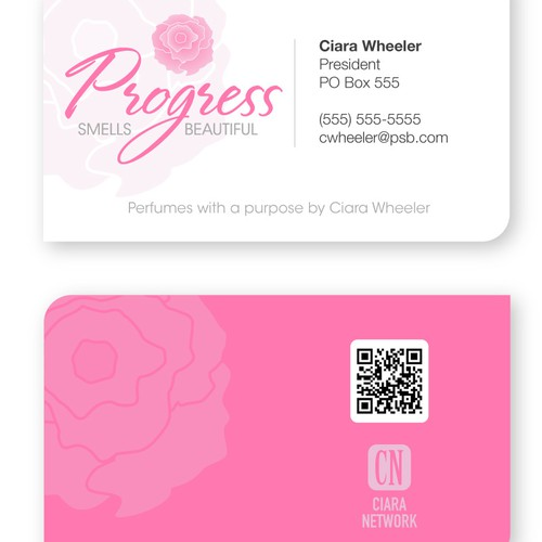 Progress Smells Beautiful needs a new logo and business card