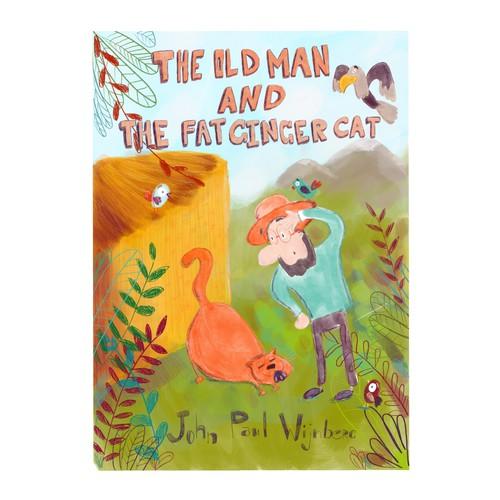 Cover book illustration for children