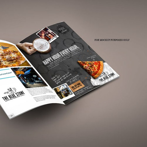 Concept Print Ad for Bluestone Pizza
