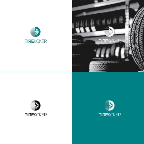 A bold logo for the tire kcker app