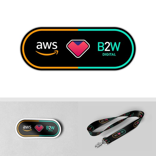 Sticker & Lanyard Design For AWS