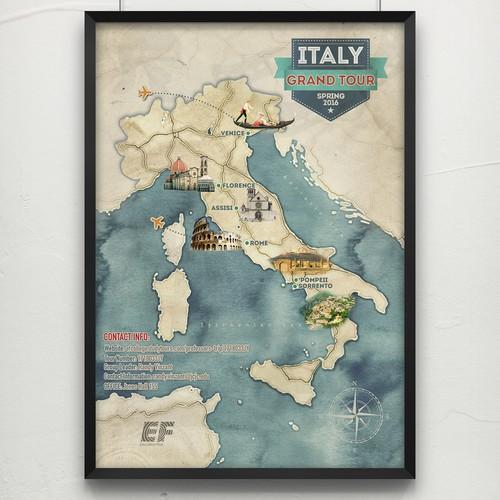 Italy Tour Poster