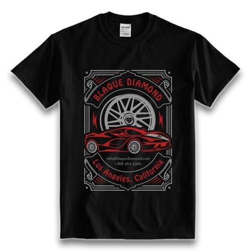 Blaque Diamond Wheels T-Shirt Design