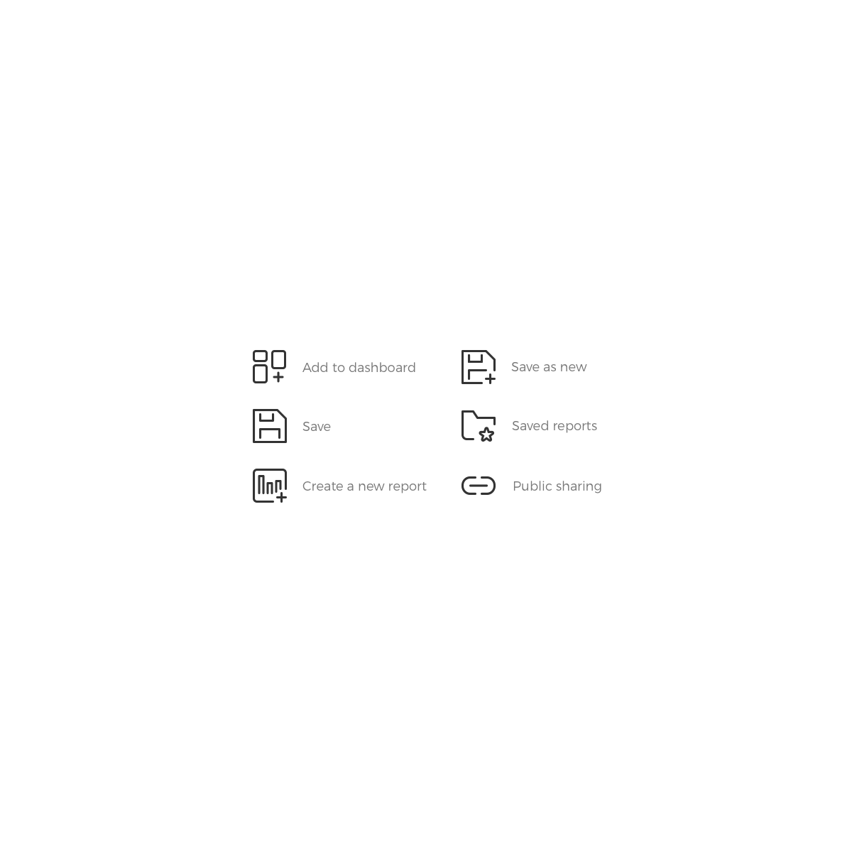 6 icons for a web application