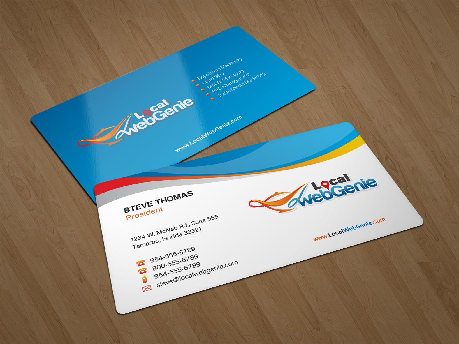 Local WebGenie Needs New Cards & Letterhead