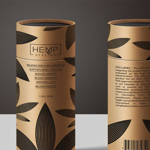 Canister Packaging for Hemp Oil