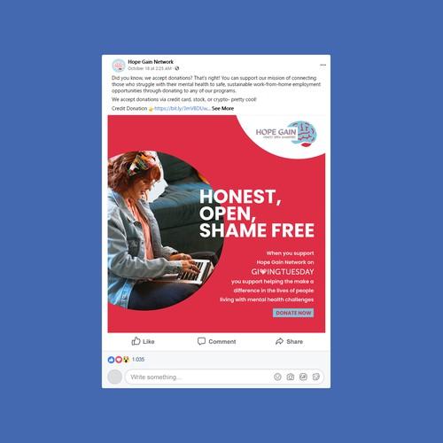 Facebook Creative for Non Profit Organization