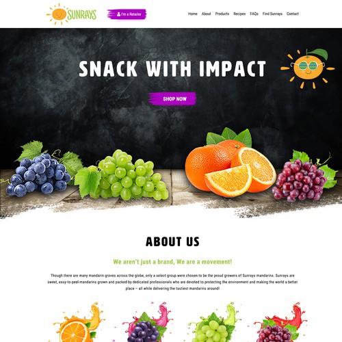Sunrays - Fruit Seller Web Page Design