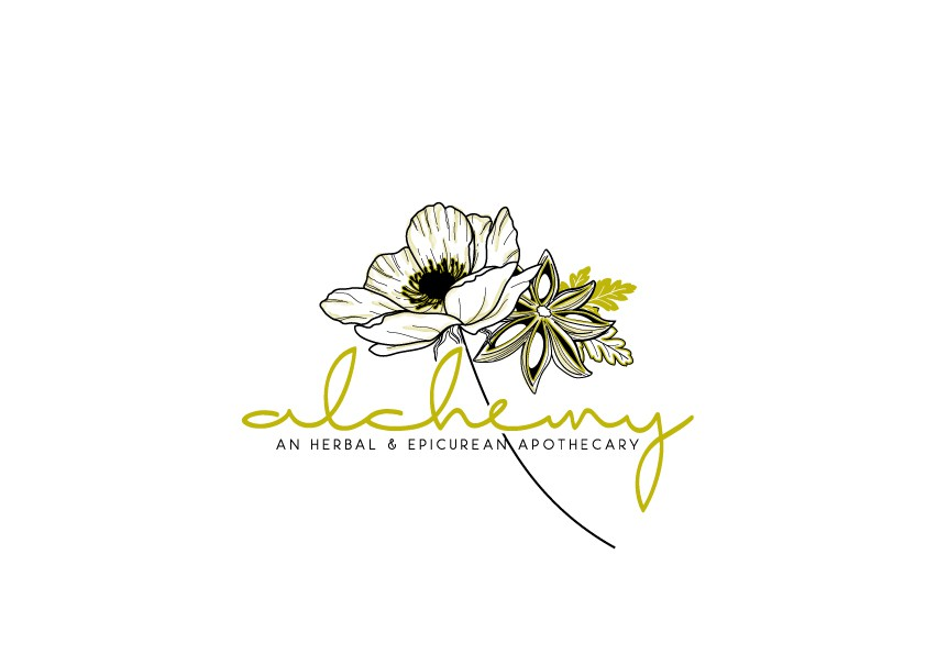 Create a contemporary logo for an herbal apothecary in Jackson Hole, WY.