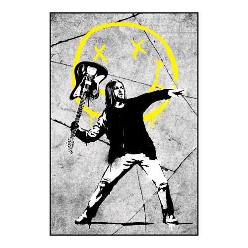 banksy x nirvana parody