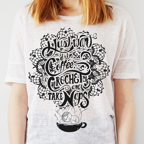 Hand-lettering design for T-shirt