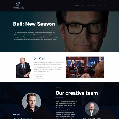 Website for  a Production Company