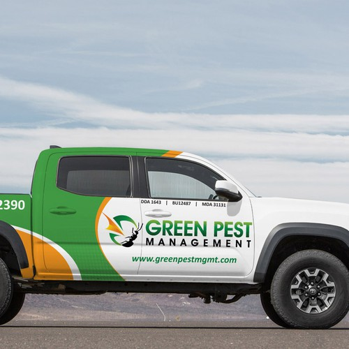 Design the best Pest Control truck graphics EVER