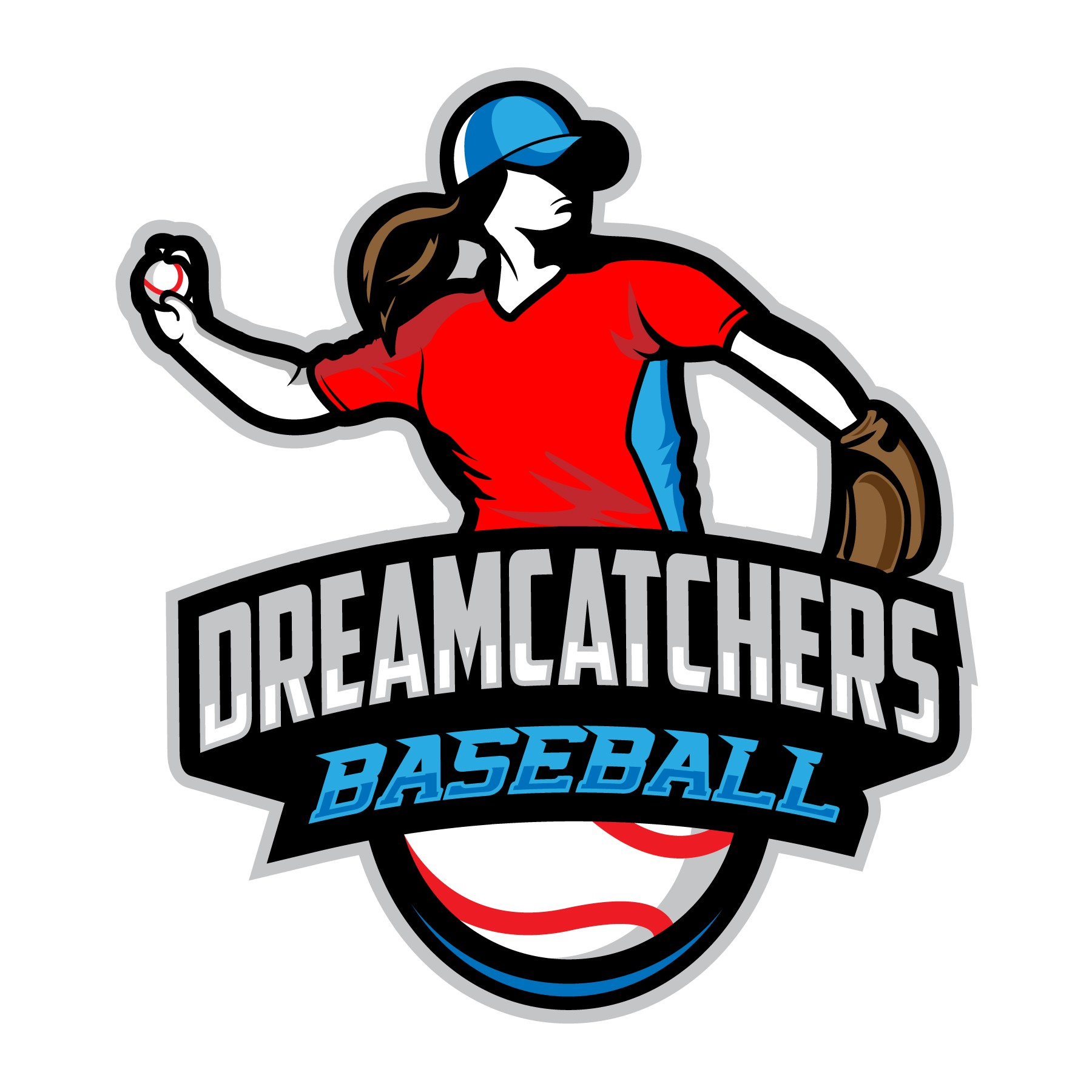 Create a logo for women's professional baseball team