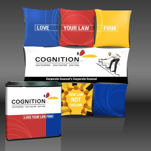 Create an eye popping trade show booth for our innovative law firm