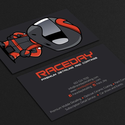 Awesome business card for detailing company