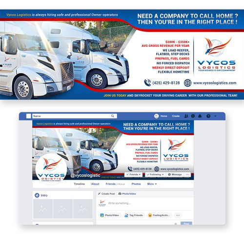 Vycos Logistic facebook banner